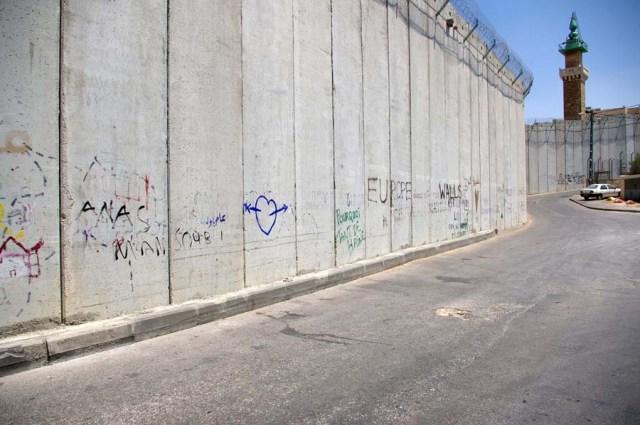 Wall in East Jerusalem - photo by Leopold Lambert (2013)