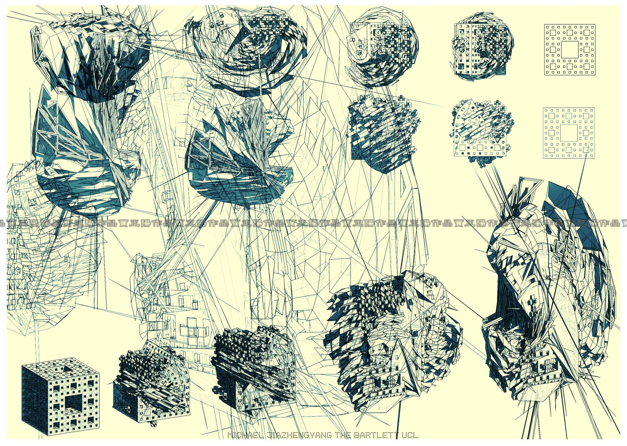 Students drawings by michael jia the funambulist for El dibujo de los arquitectos pdf
