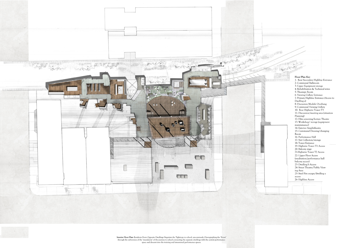 Students highlines of new york chelsea school of for Interior floor plan