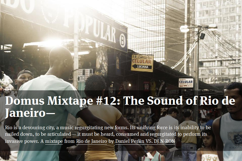 # MUSIC Domus Mixtape The Sound of the City  THE