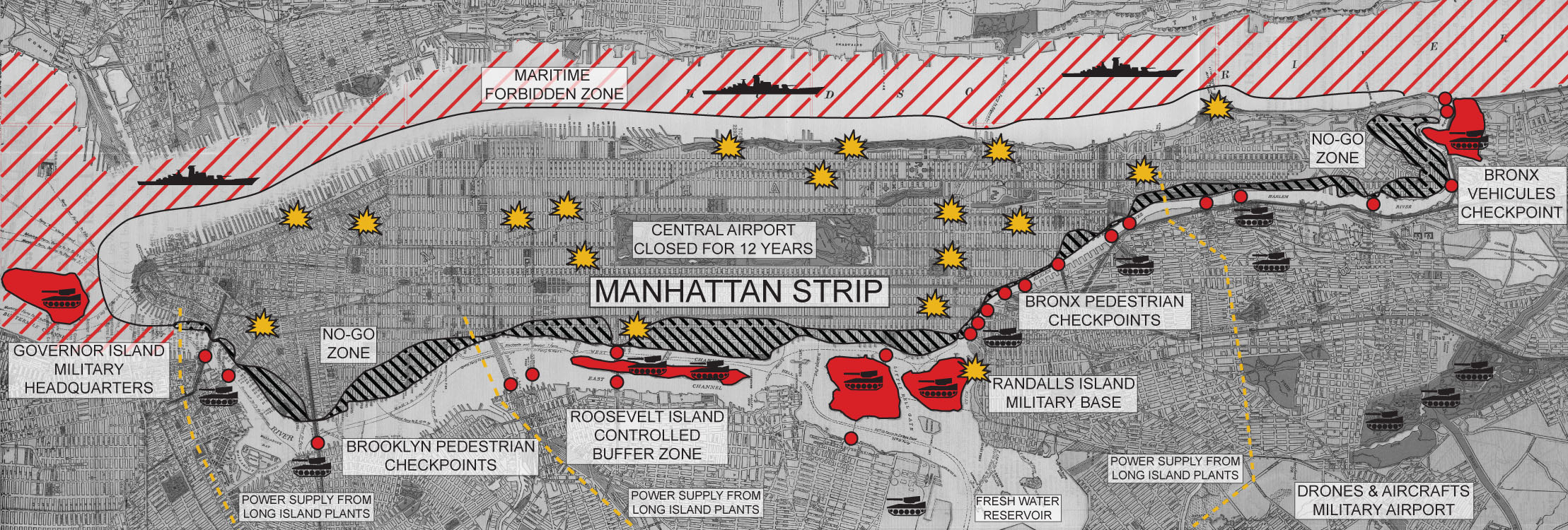 MAPS War In The Manhattan Strip THE FUNAMBULIST MAGAZINE - Us army strip map