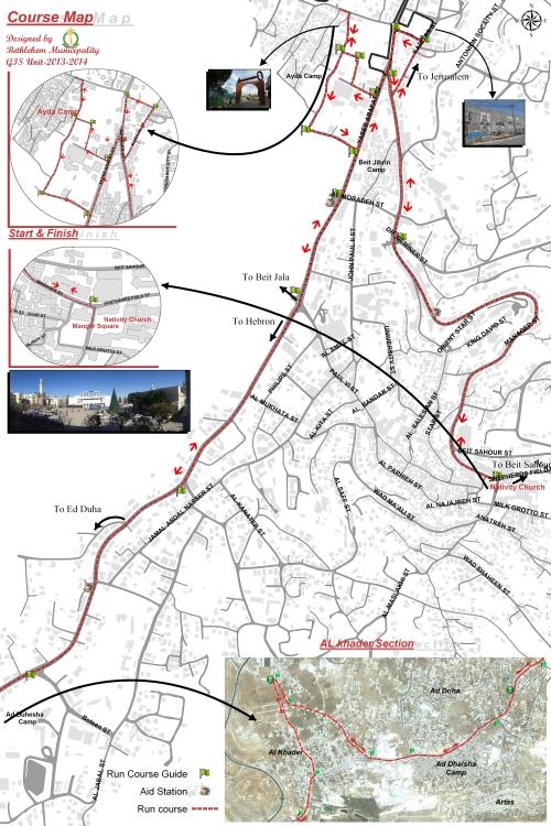 Map Palestine Marathon