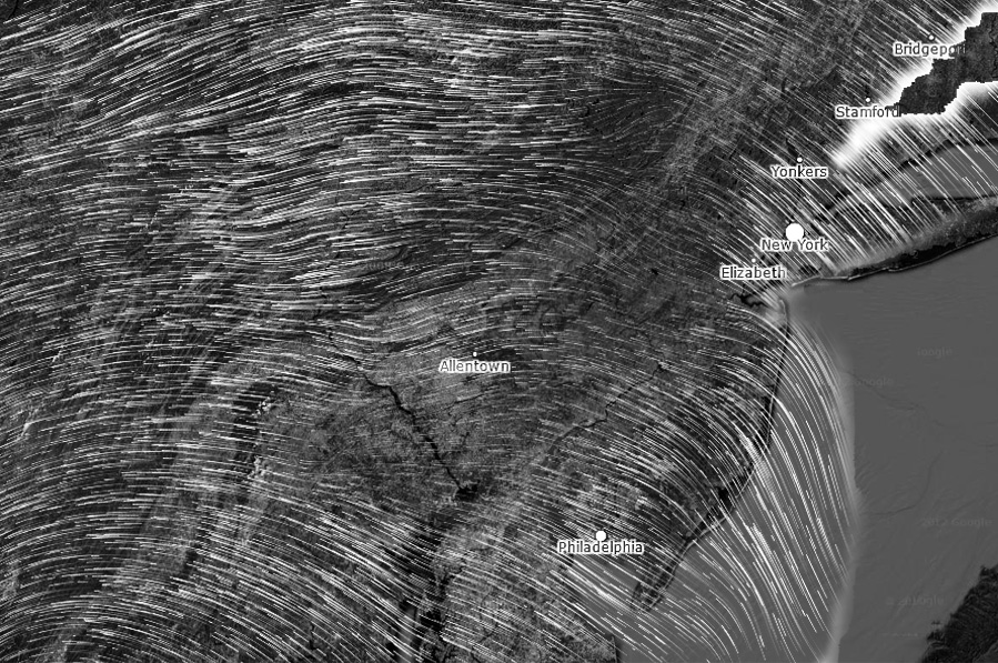 Wind Map North East