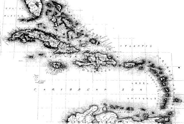 Map Carribean
