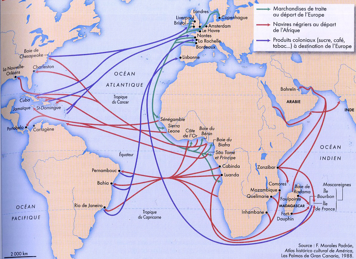 Map Slavery Trade
