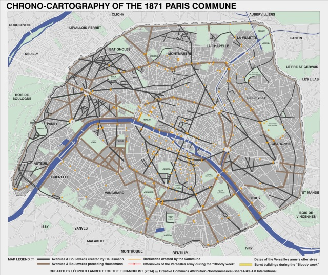 02-Map Paris Commune 1871 (barricades)