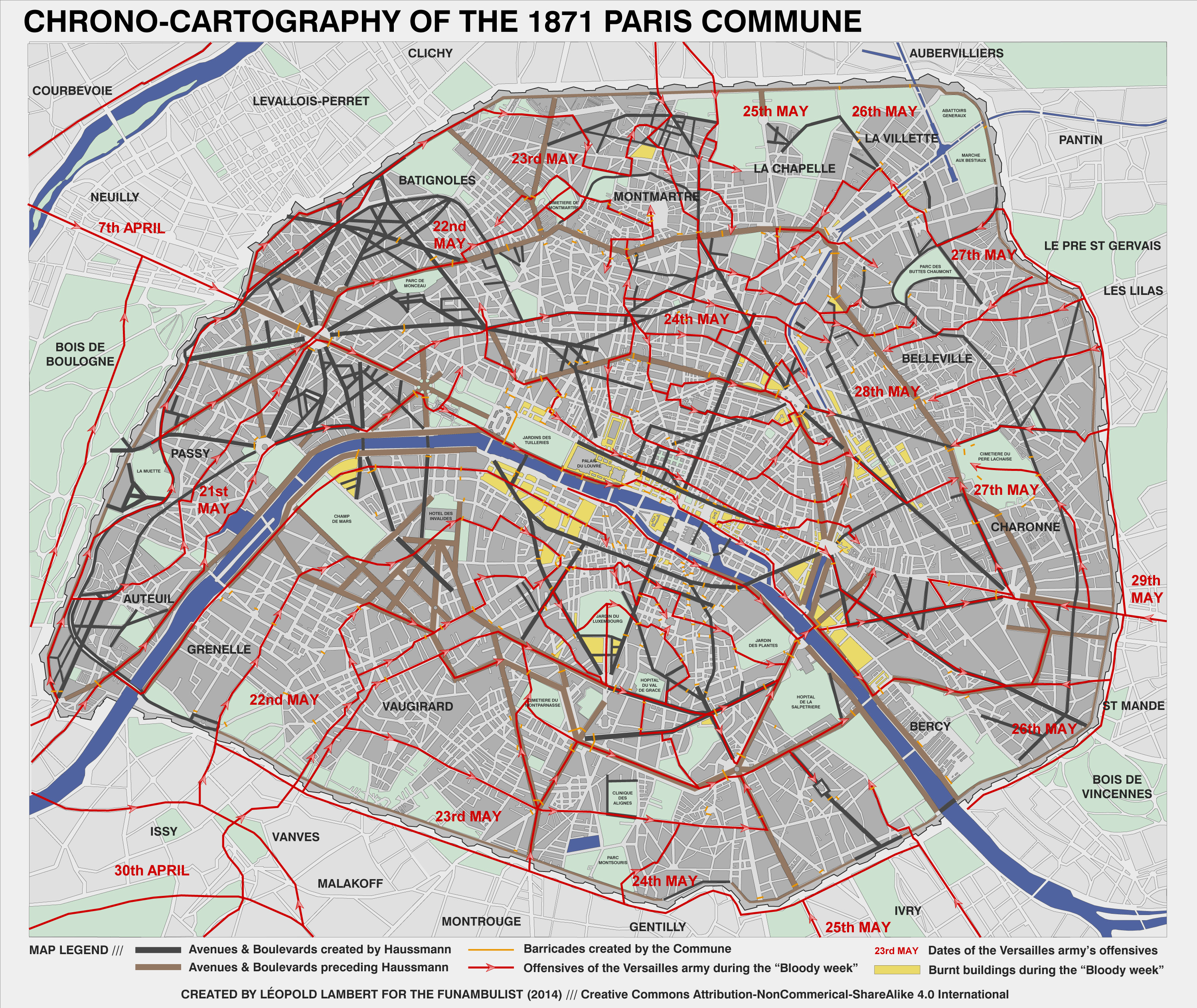 04-Map Paris Commune 1871 (army offensives)