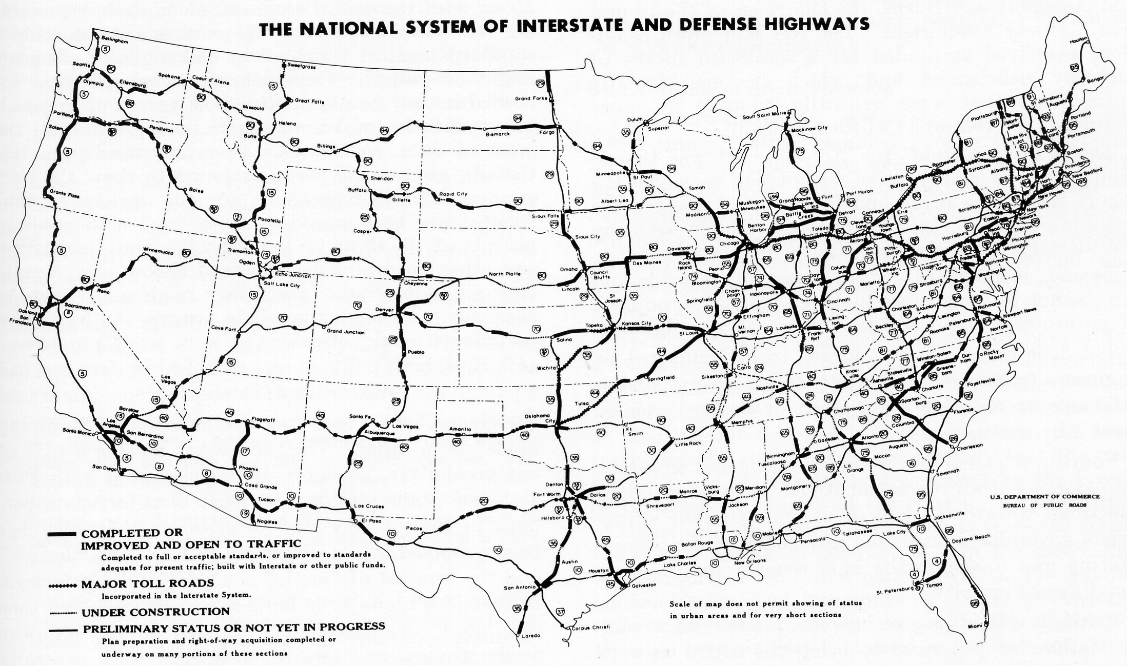Project  Map Of Interstate Highways Digital Recreation United - Us map with cities and freeways