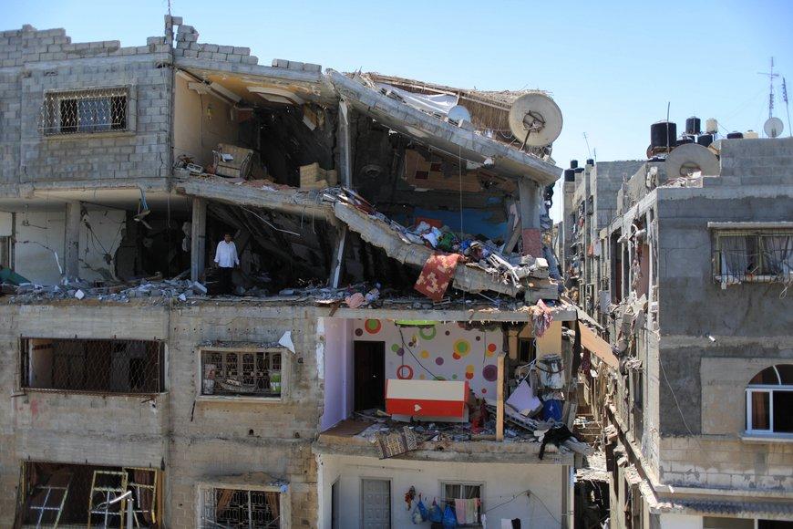 gaza destroyed home