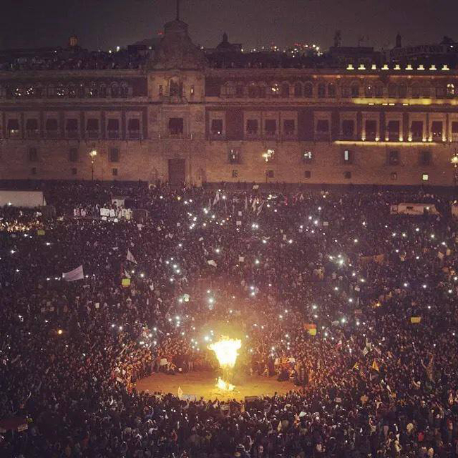 Mexico City demonstration nov 20 2014