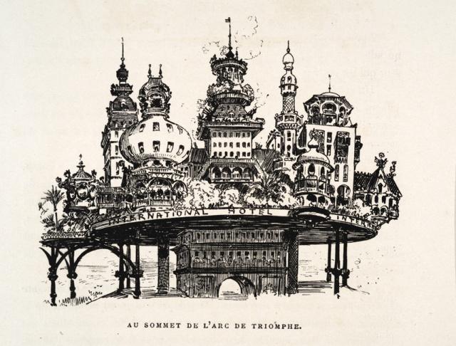 12-A.Robida Le XXe s. Sommet de l'Arc de Triomphe