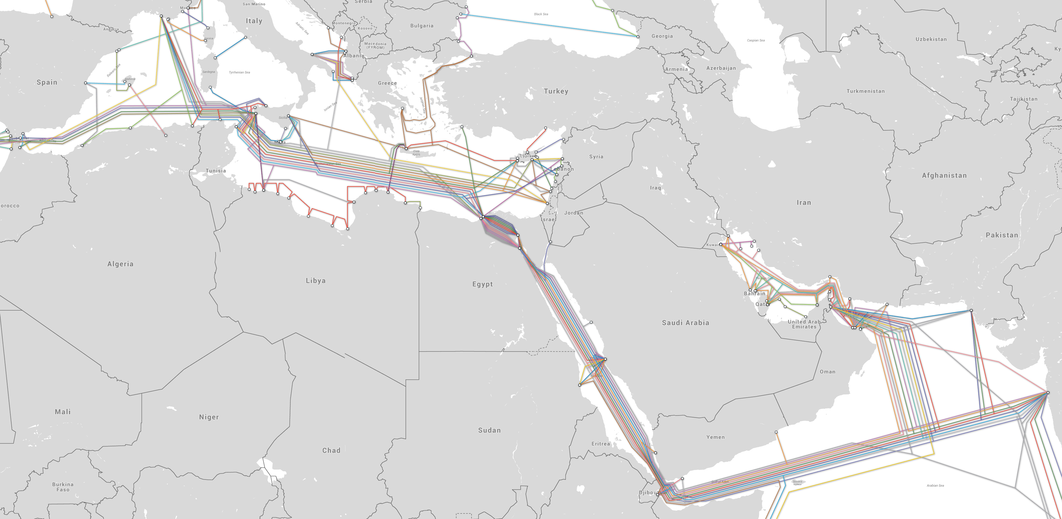 MAPS /// The Other Suez Canal: On the Internet Infrastructure - THE
