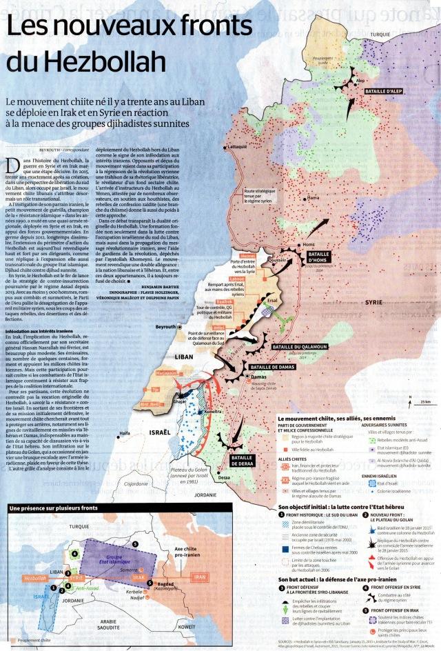 Map Hezbollah - Le Monde 2015-02-27