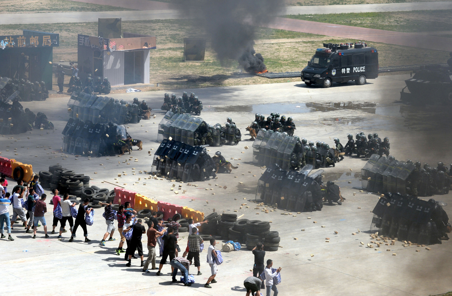 Chinese Riot-Police Drill 01